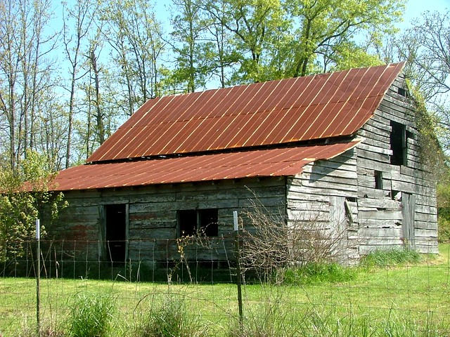 Old Tin Roof Barn With Shed Rural Saline County Ar Flickr
