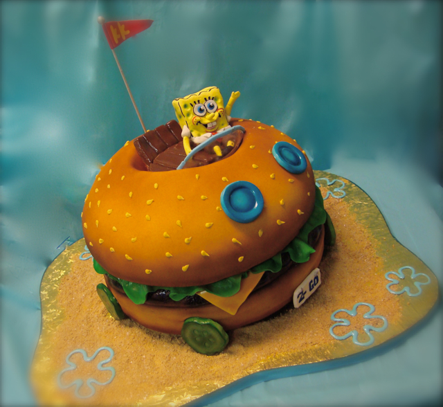 Sqidward Cake