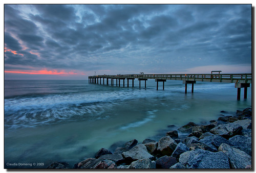 St augustine beach pier at sunrise flickr photo sharing for St augustine fishing pier