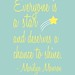 Everyone is a Star - Marilyn Monroe Quote in Blue