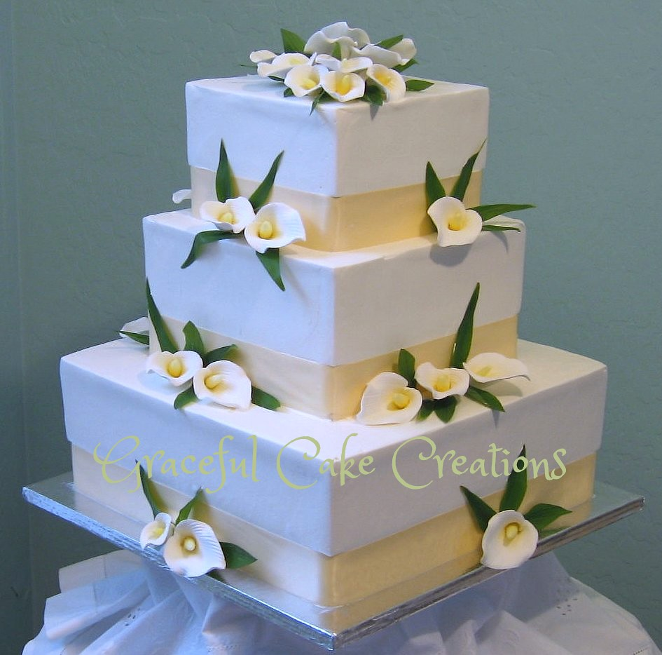 square calla lily wedding cakes calla wedding cake grace tari flickr 20357