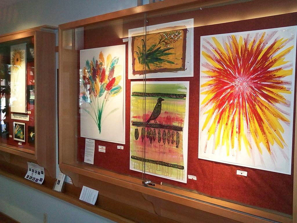 Ellensburg Public Library Art Display Case In Lobby Art