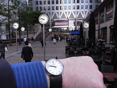 Clocks and watches @ Canary Wharf | by DesheBoard