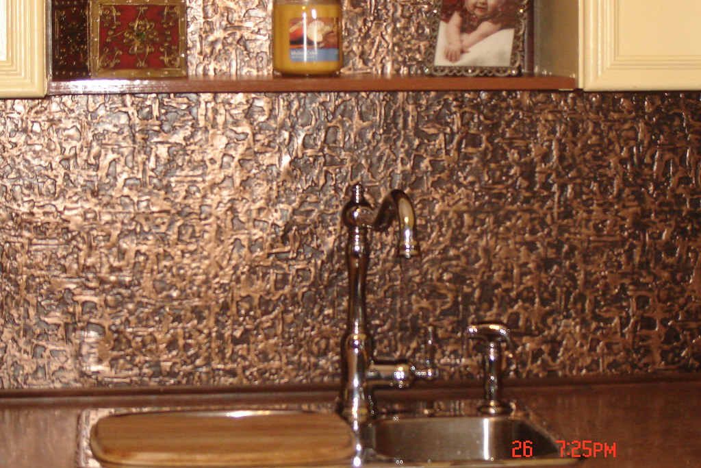 Ceiling Tile Kitchen Backsplash
