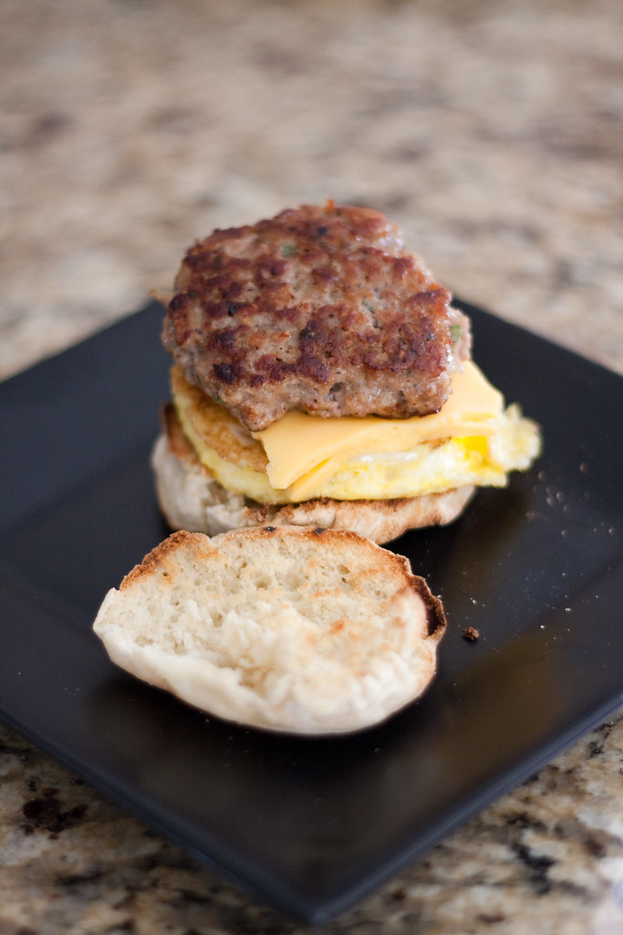 Sausage, Egg and Cheese Breakfast Sandwich | Homemade ...