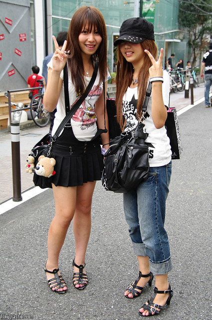 Cat street girls fashion street fashion shot of two japane flickr Japanese fashion style icon