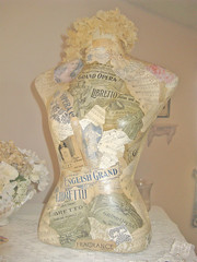 decoupage dress form | by kimberlyannryan