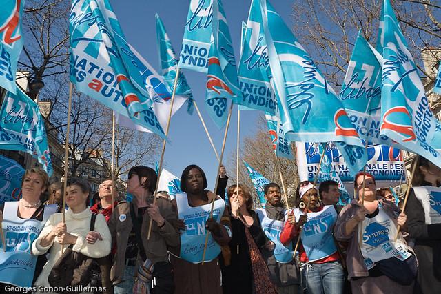 UNSA, Manifestation du 19 mars 2009 à Paris   UNSA ...