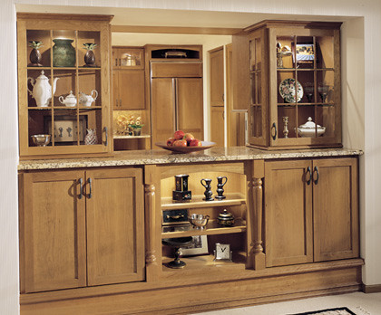 Dining room cabinets fieldstone cabinetry this dining for Dining room armoire