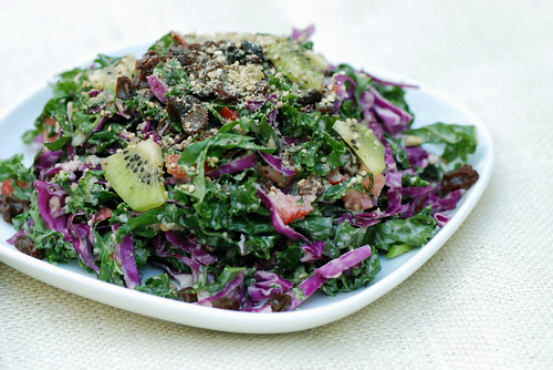 Fruited Kale and Cabbage Salad | by swellvegan