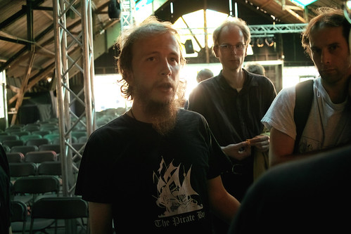Gottfrid Svartholm (piratebay) at HAR2009 | by boklm