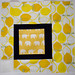 Yellow Squares Quilt Block 9
