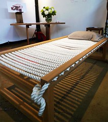 """Lauren"" Rope Bed by Bruce Marsh 