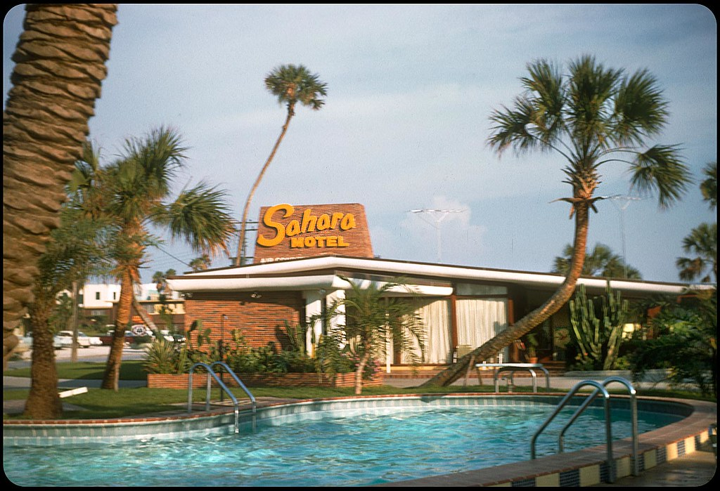 sahara motel daytona beach florida 1956 kodachrome. Black Bedroom Furniture Sets. Home Design Ideas
