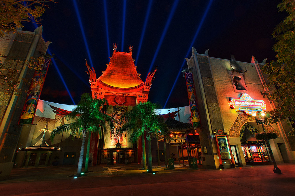 Disney Chinese Theater At Night 9x Hdr Explored Flickr