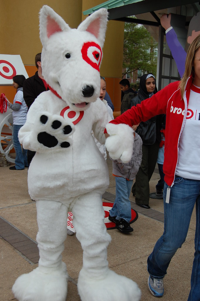 Spot the target dog targets mascot came to visit too What kind of dog is the target mascot