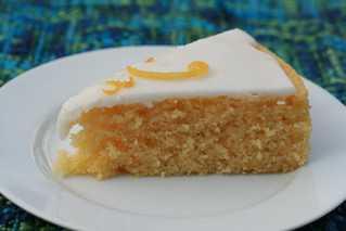 Lemon Cornmeal Cake with Lemon Glaze | by Food Librarian