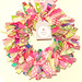 Fabric wreath Meighan Rose