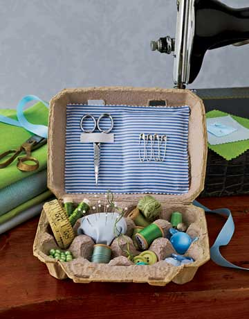Egg Carton Sewing Kit | by Heath & the B.L.T. boys