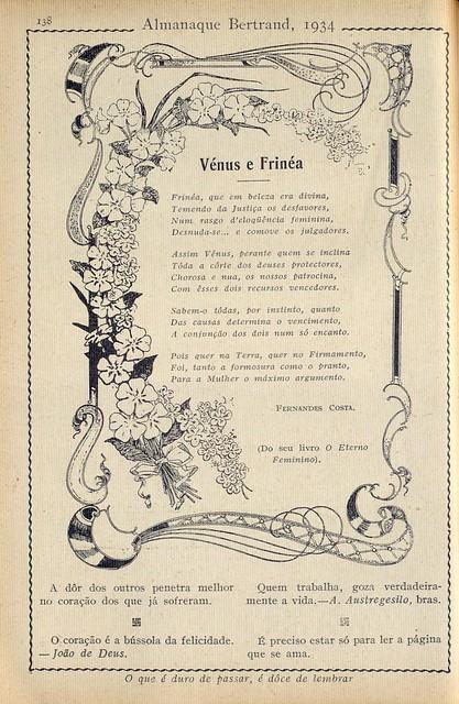Almanaque Bertrand, 1934 - Poem 12