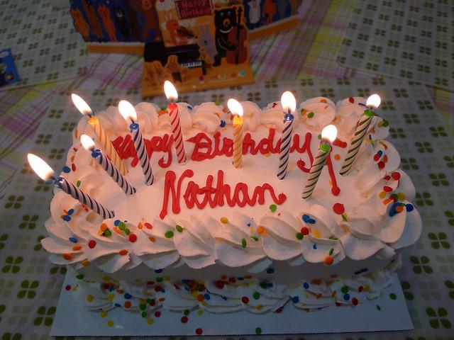Birthday Cake Happy Birthday Nathan