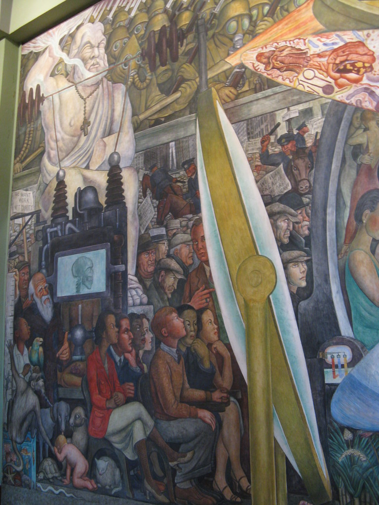 39 man controller of the universe 39 by diego rivera rivera for Diego rivera lenin mural