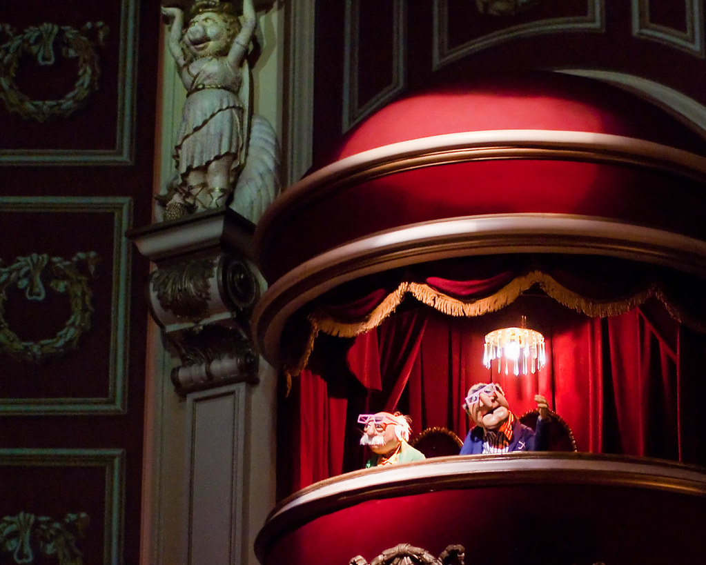 Statler and waldorf explored perpetual critics statler for Balcony muppets