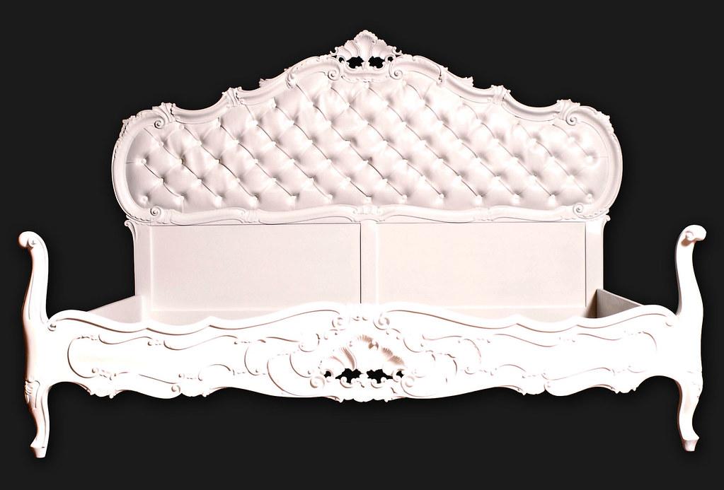 Letto barocco veneziano capitonne bianco  Letto barocco ven…  Flickr