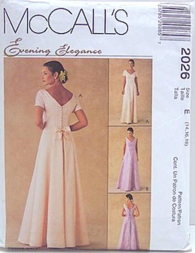 Mccalls 2026 Sewing Pattern Evening Elegance Bridesmaid F