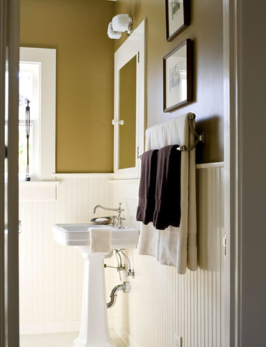 Ideas For The Bathroom Classic Brown White Walnut B