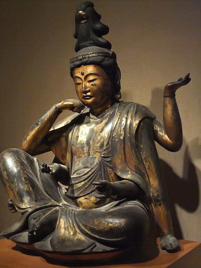 Buddhist Bodhisattva Of Compassion Nyoirin Kannon Japan Ka