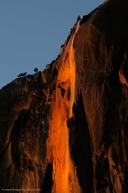 Horsetail Falls (aka Fire Falls), Yosemite National Park ...