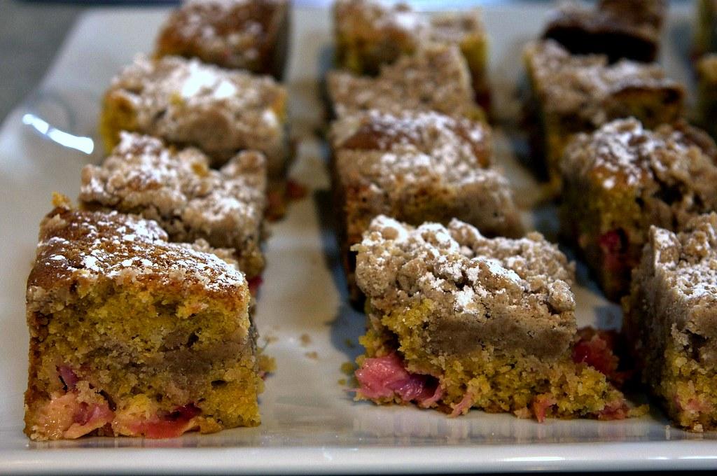 rhubarb big crumb coffee cake | deb | Flickr