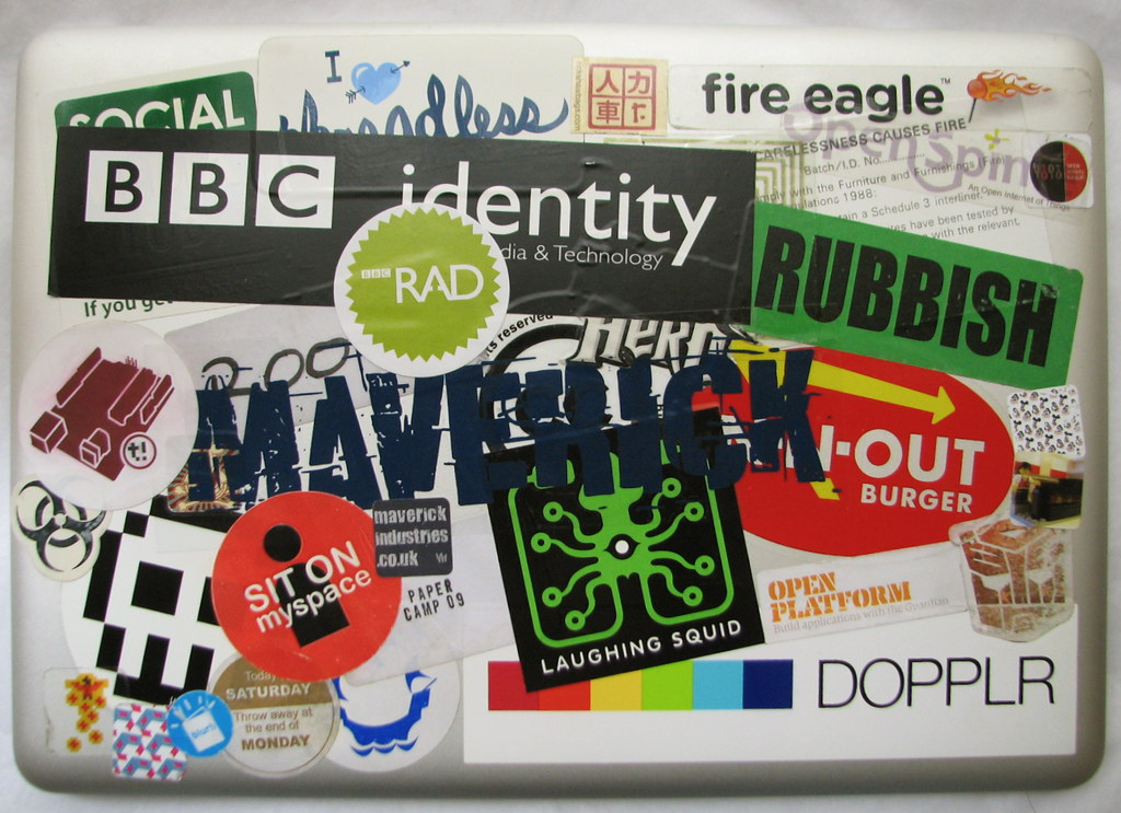 Laptop Stickers The Stickers Currently On My MacBook Air