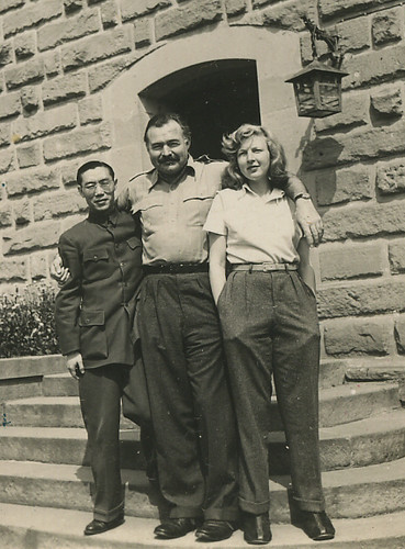 Ernest Hemingway, Martha Gellhorn, and unidentifed person | Flickr