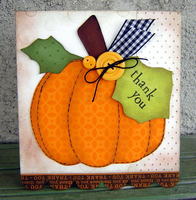 Pumpkin Thank You Card Hi Here S My Card For This Weeks C Flickr