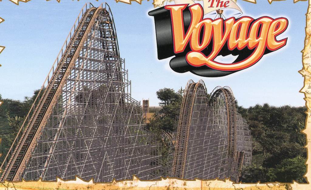 The Voyage rollercoaster from Holiday World Theme Park IN ...