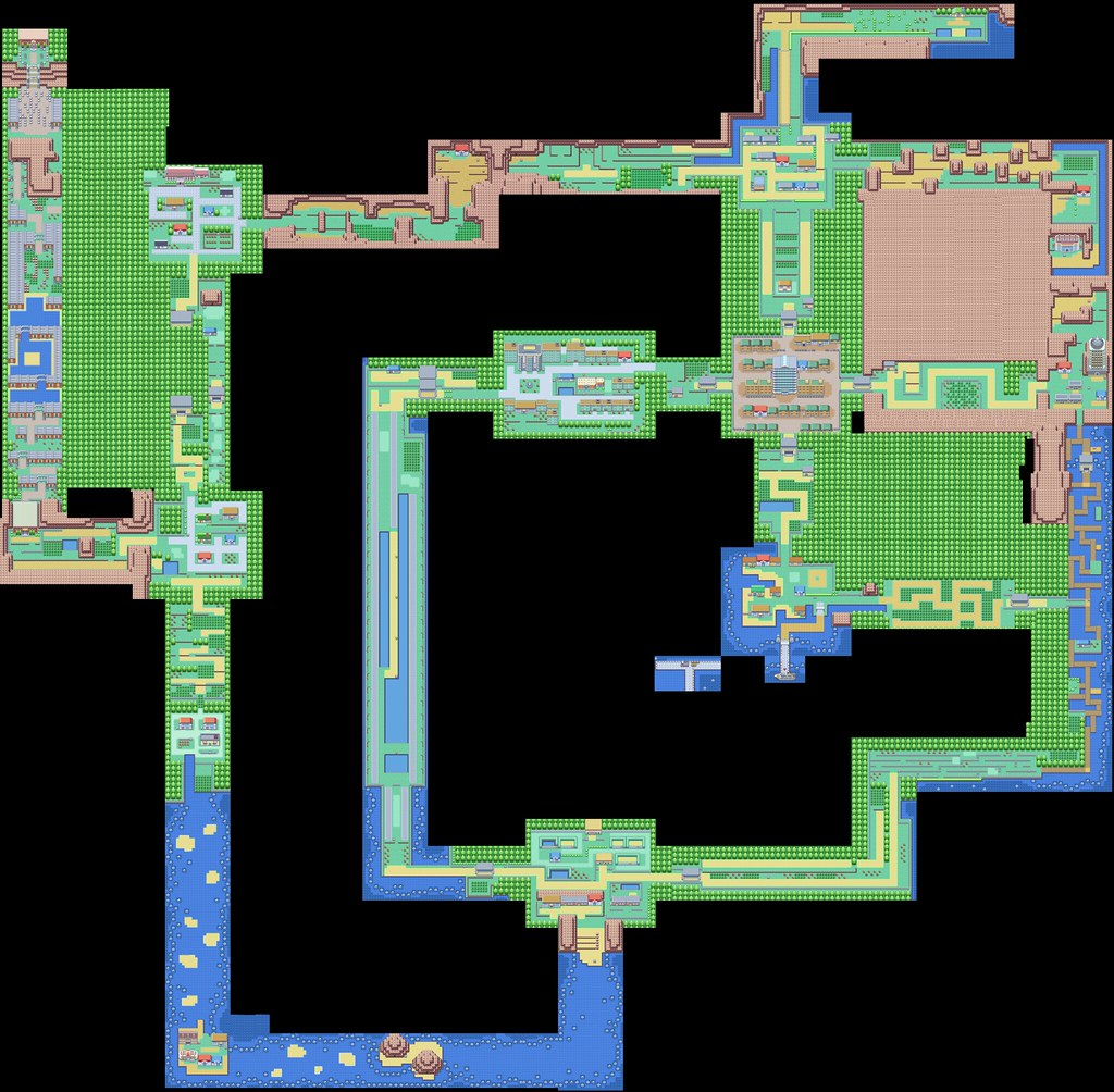Kanto Pokemon Map Este 233 O Mapa Do Continente De Kanto