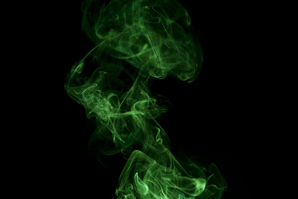 Green Smoke | Smoke on black background | Jordan ...