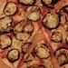 Chilli and aubergine pizza