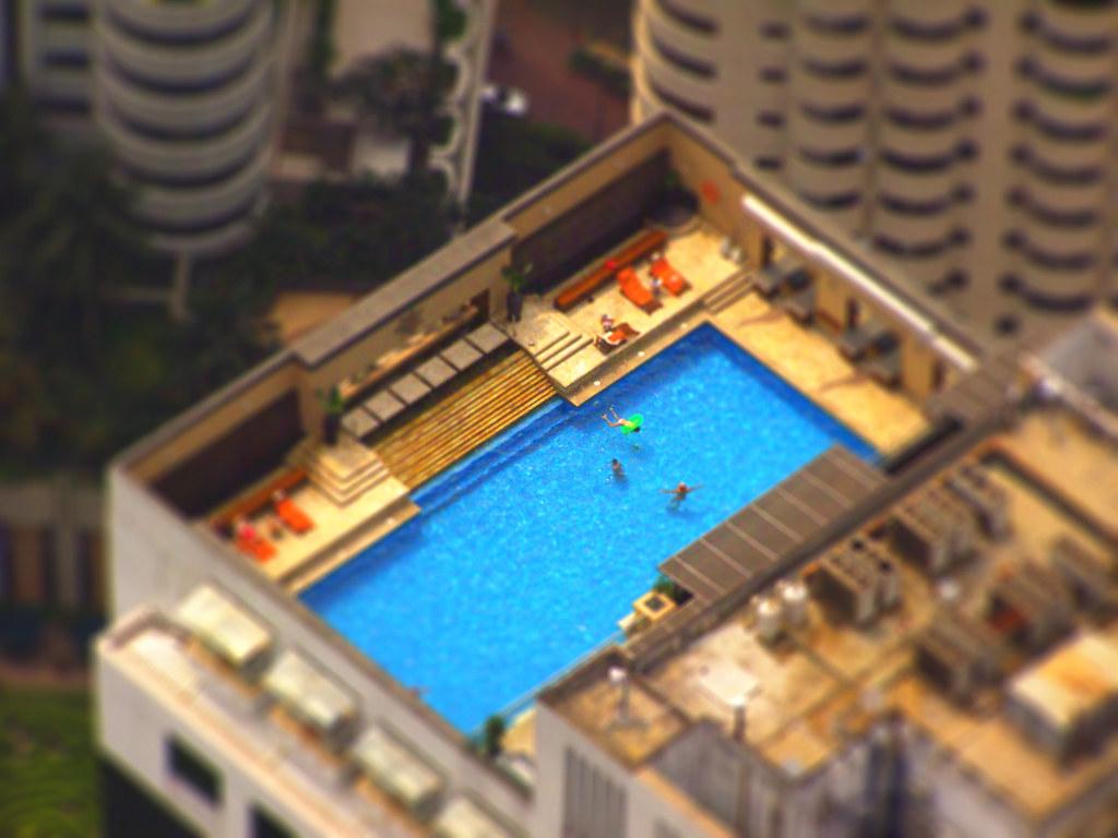 Rooftop Swimming Pool Kuala Lumpur Malaysia Tilt Shift P Flickr
