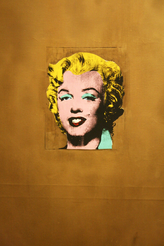 gold marilyn monroe by andy warhol at moma divya thakur flickr. Black Bedroom Furniture Sets. Home Design Ideas