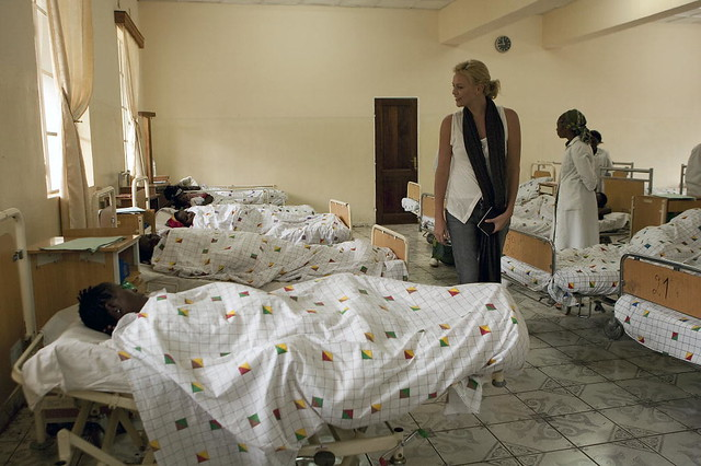 Charlize Theron Visits Hospital in DR Congo | Charlize ...