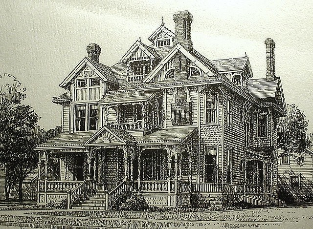 Sternberg Mansion Best Old Drawing Drawing Of The W H