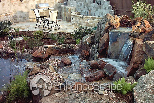 Water feature and pond ideas your dallas fort worth for Pond feature ideas