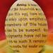 Lengthy Egg Warning Label
