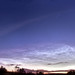 Delights of the summer Sky: Noctilucent Clouds & Iridium Flare