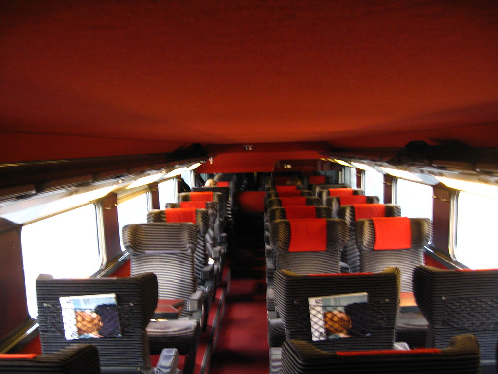 Train Chartering Interior Of Sncf Tgv First Class Carria