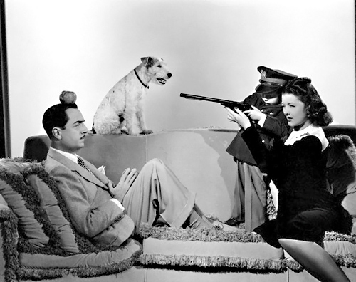 William Powell, Myrna Loy, Dickie Hall and Asta | ca. 1941 ...