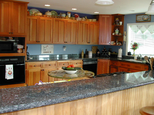 Kitchen With Maple Cabinets Wall Color